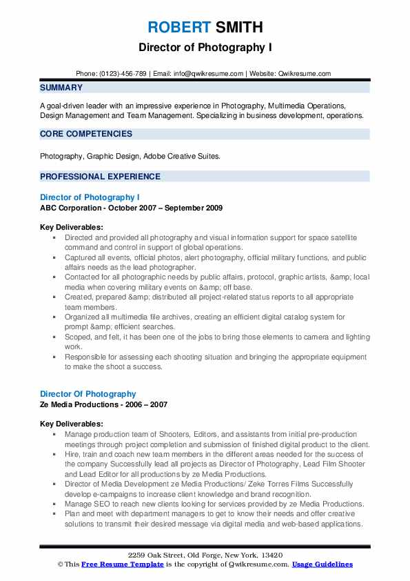 director of photography resume samples qwikresume pdf format for science graduates cpa Resume Director Of Photography Resume