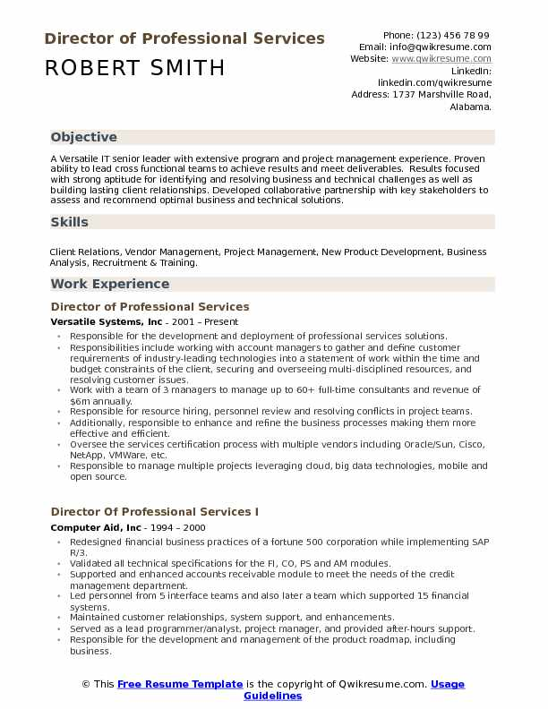 director of professional services resume samples qwikresume responsibility examples pdf Resume P&l Responsibility Resume Examples