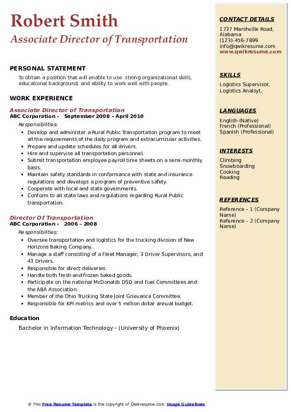 director of transportation resume samples qwikresume pdf manager template living summary Resume Director Of Transportation Resume