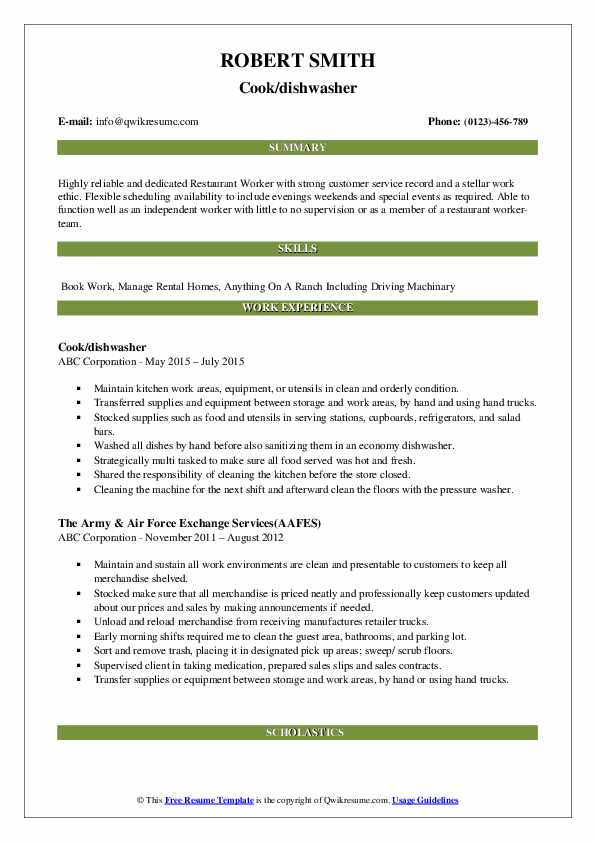 dishwasher resume samples qwikresume job description for pdf objective first time seekers Resume Job Description For Dishwasher For Resume