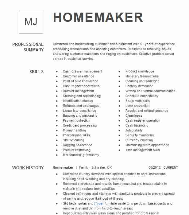 displaced homemaker caretaker resume example skills for bilingual sample template Resume Homemaker Skills For Resume