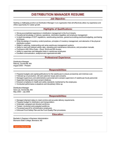 distribution manager resume example center objective sample image primary school teacher Resume Distribution Center Manager Resume Objective