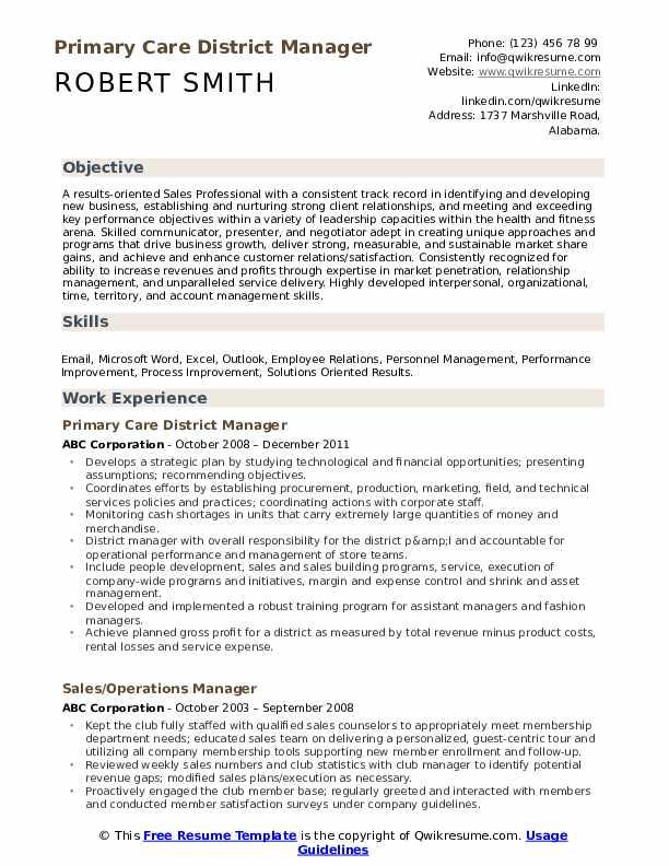 district manager resume samples qwikresume examples pdf retail assistant handshake upload Resume District Manager Resume Examples