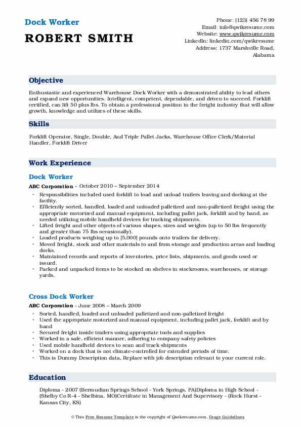 dock worker resume samples qwikresume summary pdf language proficiency relocation manager Resume Dock Worker Resume Summary