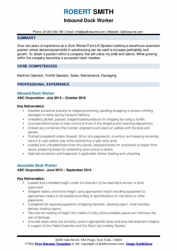 dock worker resume samples qwikresume summary pdf objective on free examples content Resume Dock Worker Resume Summary