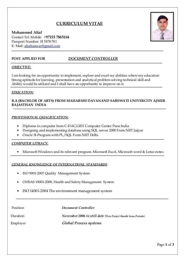 document controller resume template word summary examples for account manager best and Resume Controller Resume Template Word