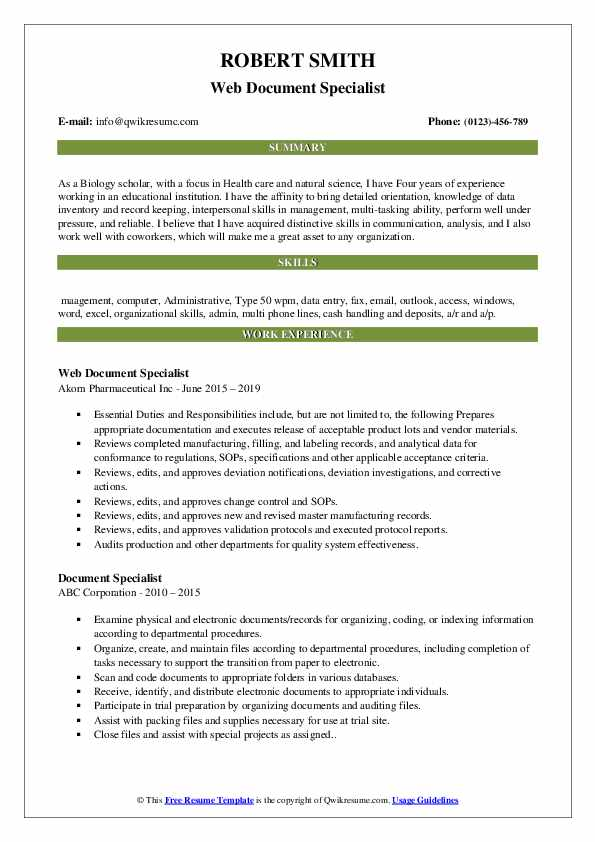 document specialist resume samples qwikresume sample pdf box engineering manager examples Resume Document Specialist Resume Sample