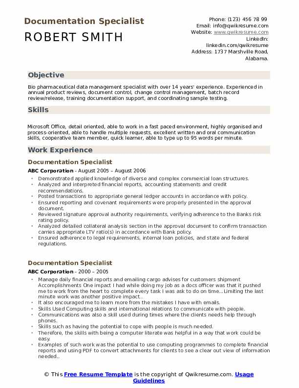 documentation specialist resume samples qwikresume document sample pdf skills on for Resume Document Specialist Resume Sample