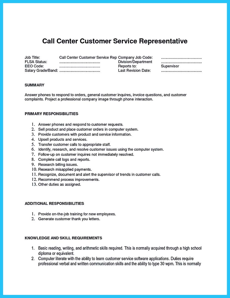 easy customer service job description info representative resume additional information Resume Customer Service Representative Job Description Resume