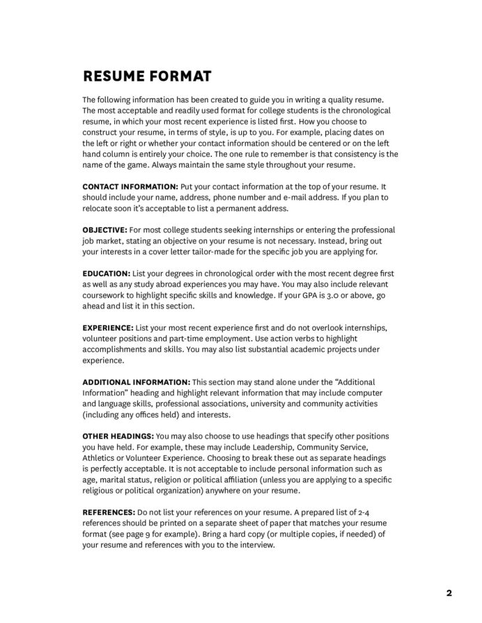 effective resumes and cover letters usc career center flip pdf fliphtml5 resume template Resume Usc Marshall Resume Template