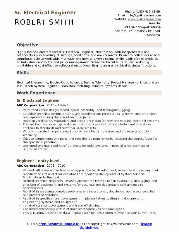electrical engineer resume samples qwikresume engineering format pdf brief background Resume Engineering Resume Format