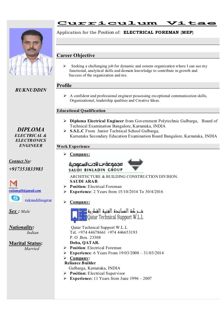 electrical foreman cv electrician resume thumbnail free cover letter examples master Resume Electrician Foreman Resume