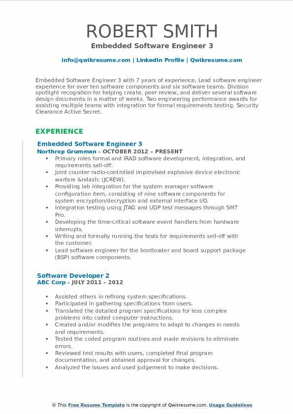 embedded software engineer resume samples qwikresume amazing resu objective examples job Resume Software Engineer Resume