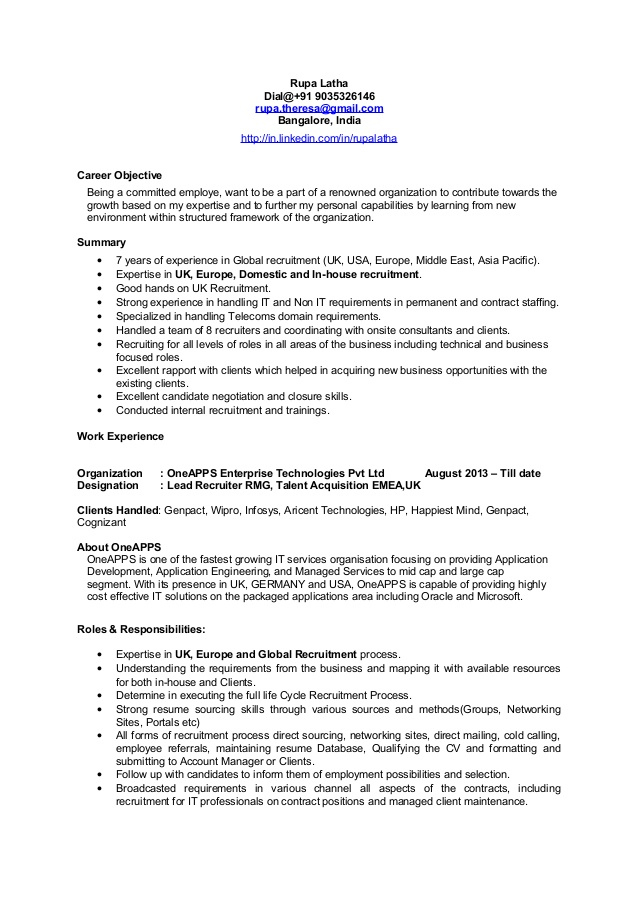 emea europe recruiter cv resume examples librarian skills objective for medical assistant Resume Recruiter Resume Examples