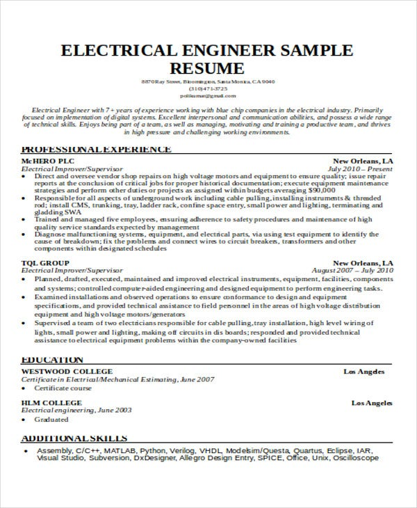 engineering resume samples pdf free premium templates student electrical script link Resume Engineering Student Resume