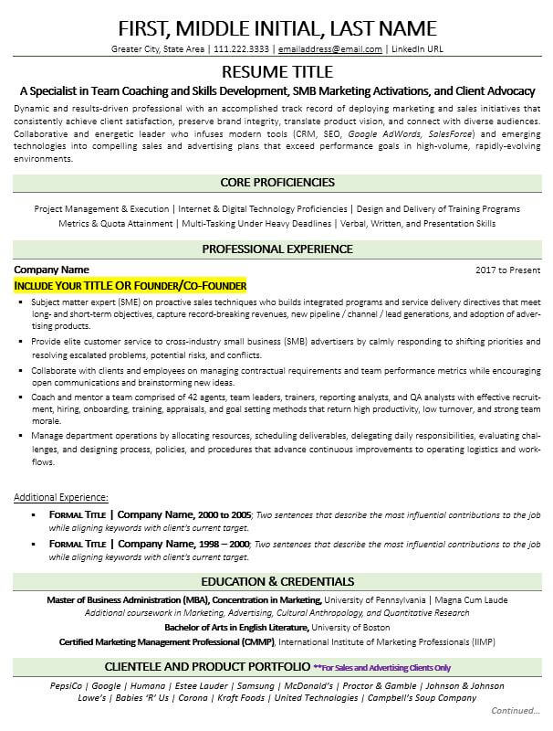 entrepreneur resume example guide update skills title for writing calgary social media Resume Skills Title For Resume