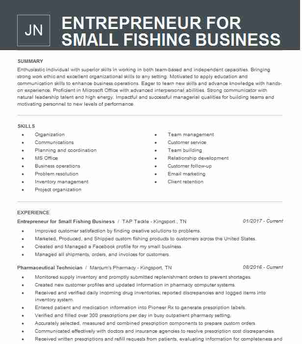 entrepreneur small business owner resume example template automotive service writer Resume Business Owner Resume Template