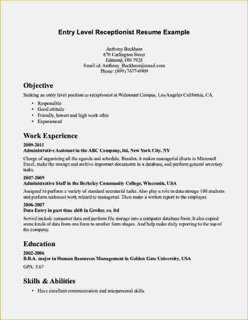 entry level accounting resume beautiful objective examples cover letter for medical Resume Examples Of Resume Objectives Entry Level