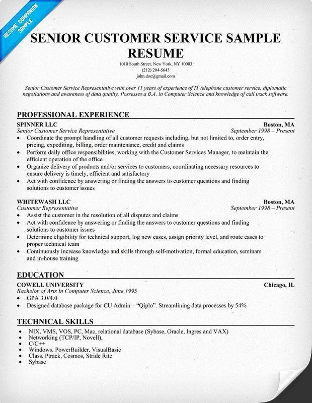 entry level customer service resume lovely senior panion project manager examples Resume Technical Representative Resume