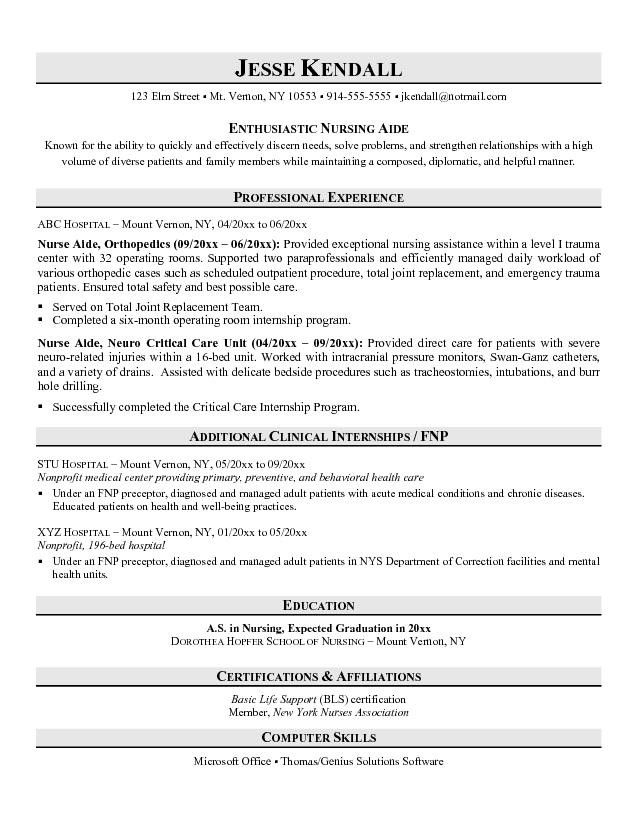 entry level nurse aide resume sample no experience examples job cna objective medical Resume Entry Level Cna Resume Objective