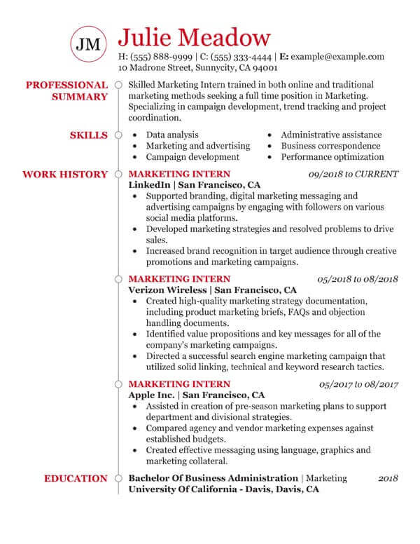 essential student resume examples my perfect sample for full time job marketing photo Resume Sample Resume For Full Time Job