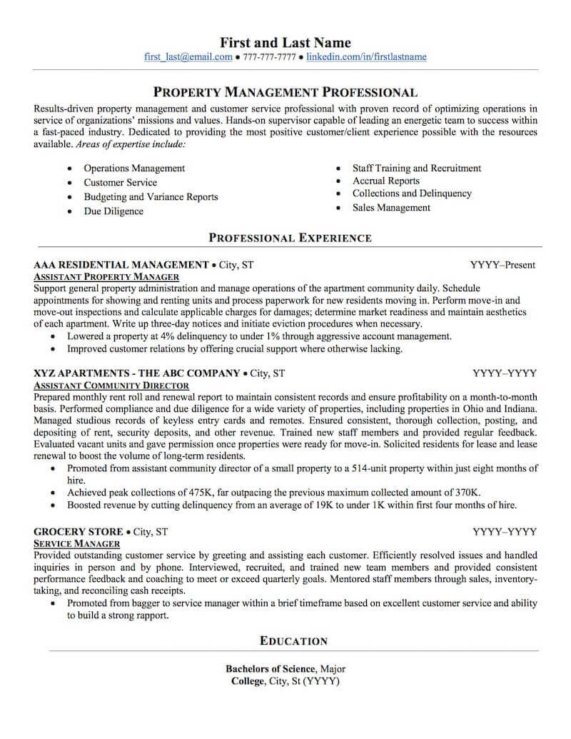 estate property management resume sample professional examples topresume manager miriam Resume Property Manager Resume