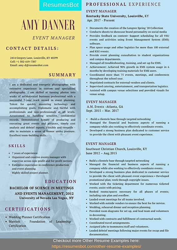event manager resume samples templates pdf resumes bot targeted military template example Resume Targeted Military Resume Template