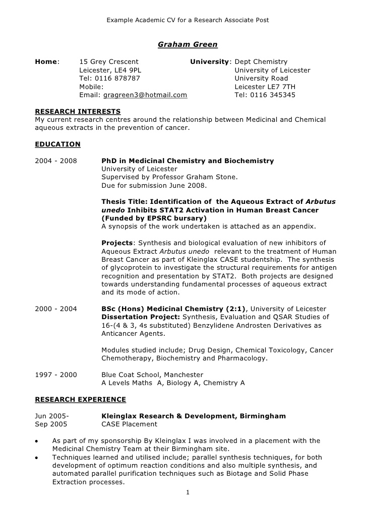 example academic cv biochemistry resume format totally free templates construction Resume Biochemistry Resume Format
