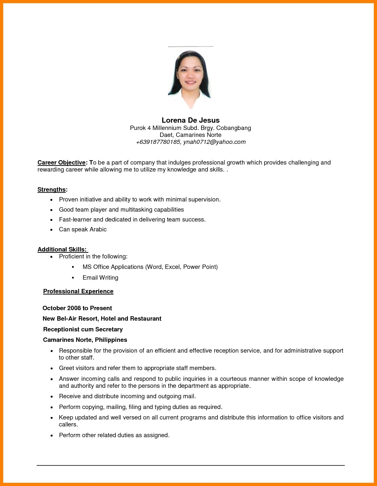example of resume objective templates examples objectives career for sample any position Resume Sample Objective For Resume For Any Position