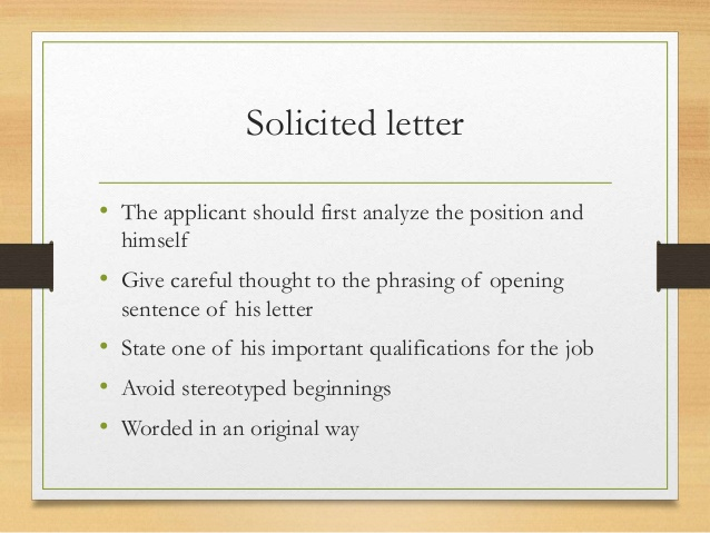 example of solicited application letter and unsolicited resume sample business letters Resume Unsolicited Resume Sample