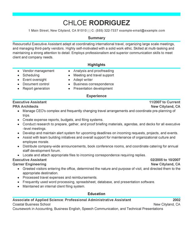 executive assistant resume discoveries description administration and office support Resume Executive Assistant Description Resume