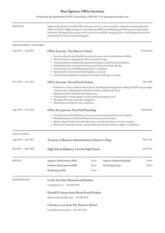 executive assistant resume examples writing tips free guide io administrative sample Resume Administrative Assistant Resume 2020