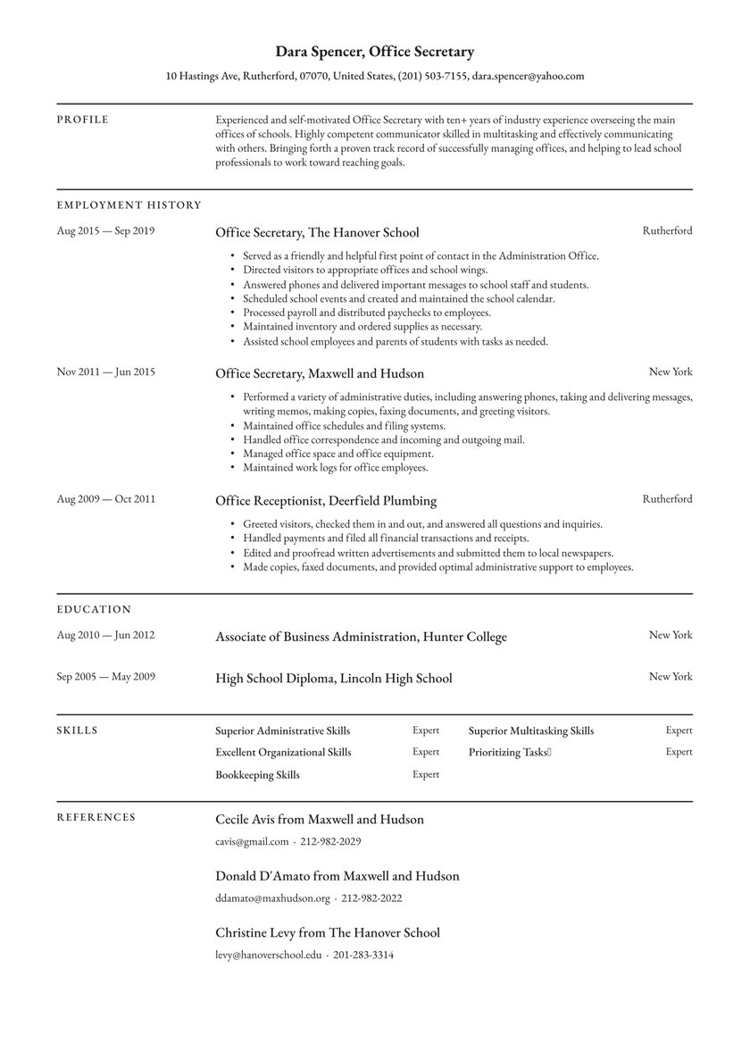 executive assistant resume examples writing tips free guide io administrative tenant Resume Administrative Assistant Resume Examples 2020