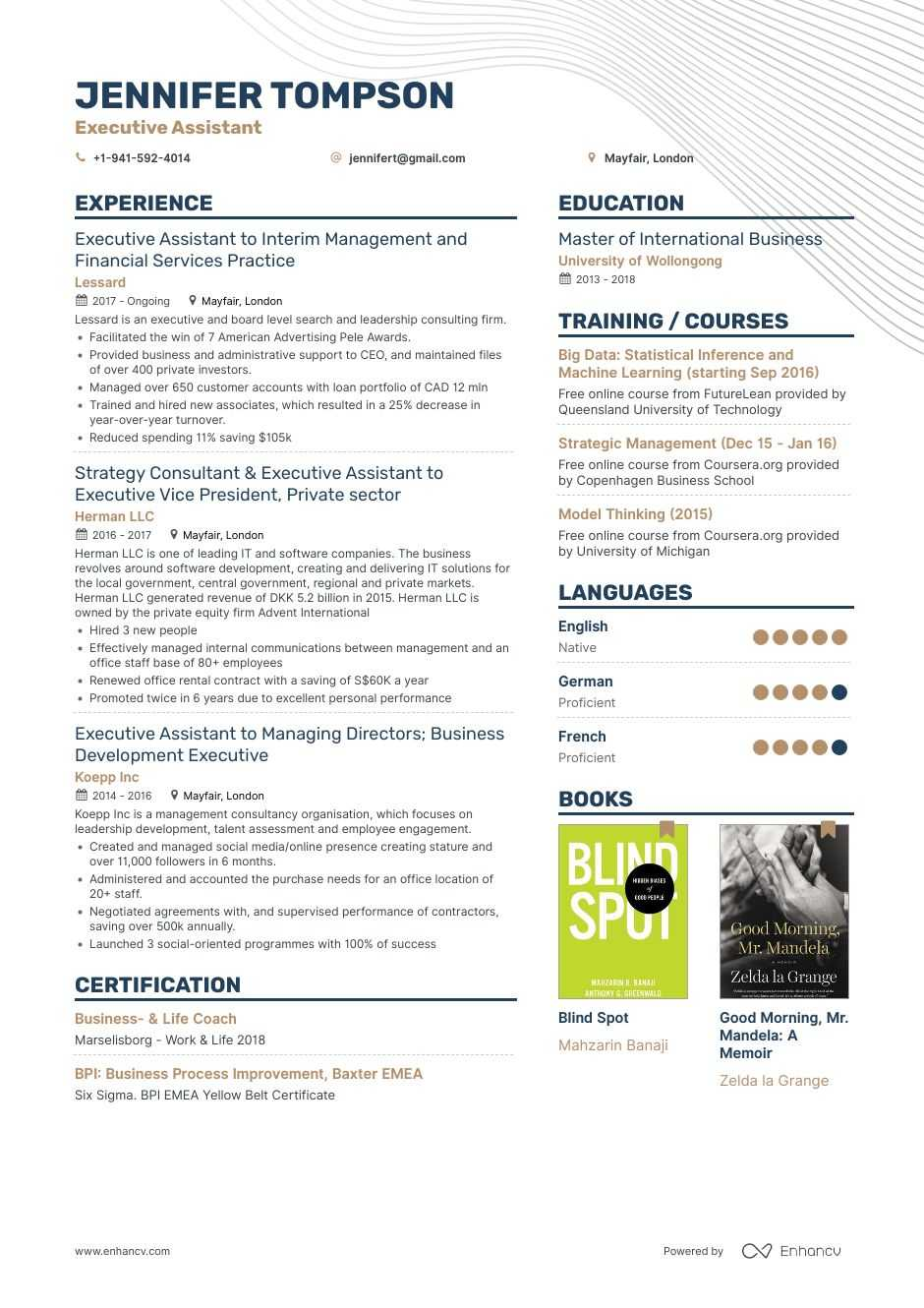 executive assistant resume samples step by guide for examples generated sap ewm sample Resume Executive Assistant Resume Examples 2020