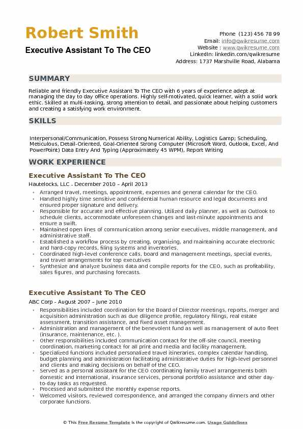 executive assistant to the ceo resume samples qwikresume description pdf pursuing Resume Executive Assistant Description Resume