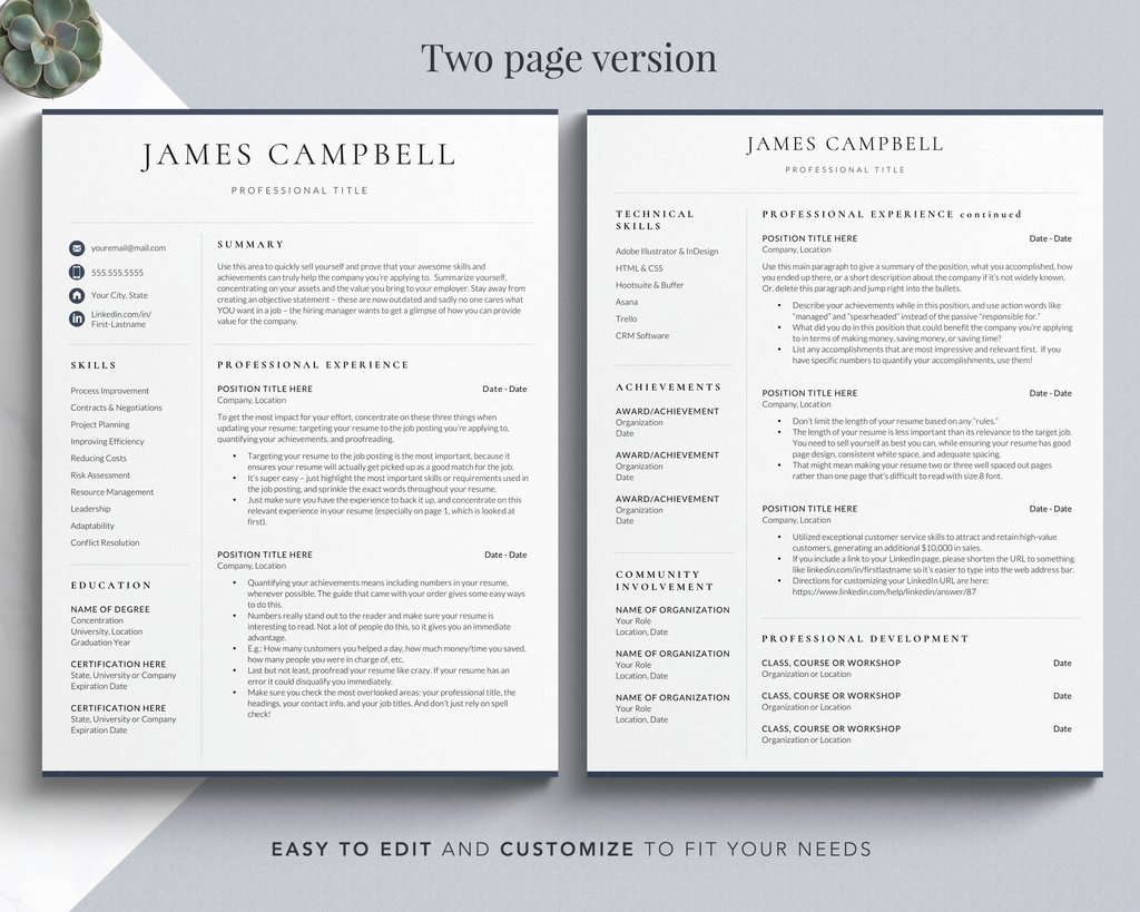 executive resume template corporate format for word get landed mac Resume Resume Template Word Mac