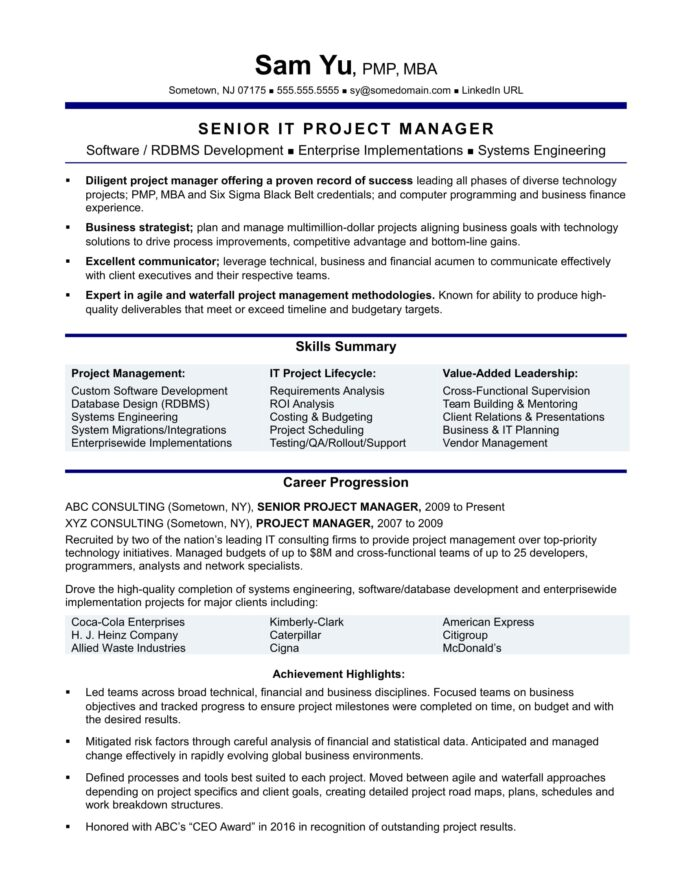experienced it project manager resume sample monster data migration race examples Resume Data Migration Project Manager Resume