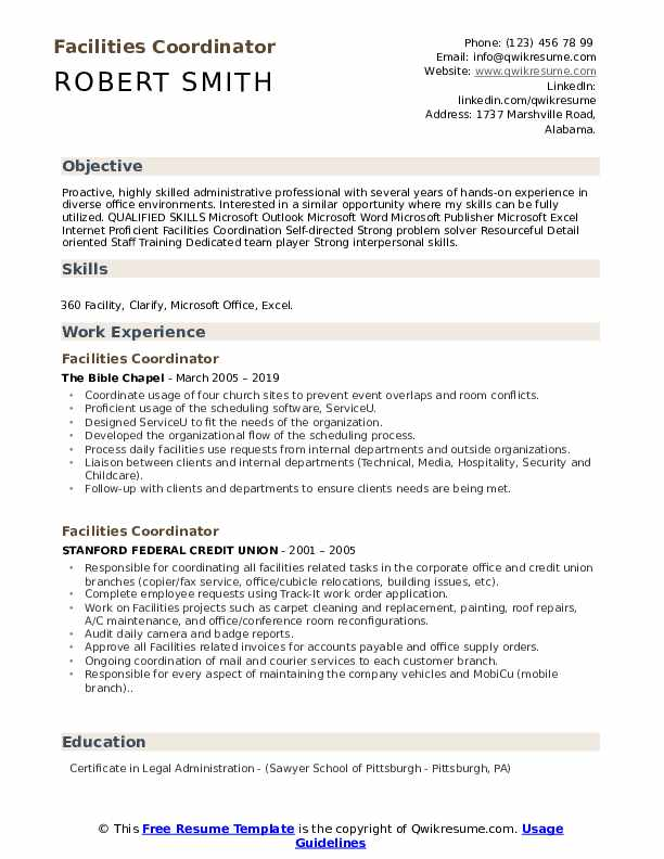 facilities coordinator resume samples qwikresume another word for on pdf quality control Resume Another Word For Coordinator On Resume