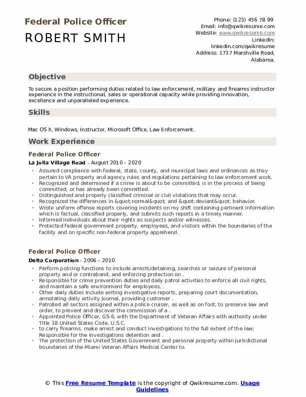federal police officer resume samples qwikresume law enforcement examples pdf easy Resume Law Enforcement Resume Examples