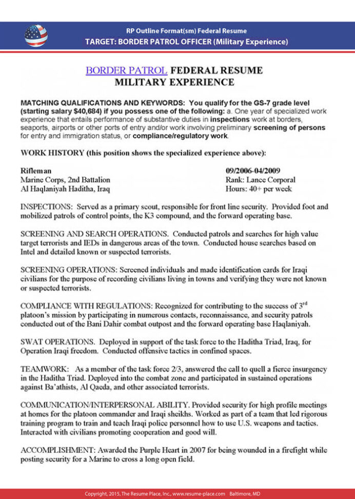 federal resume samples place government example sample 5x4 supervisor qualifications cto Resume Federal Government Resume Example