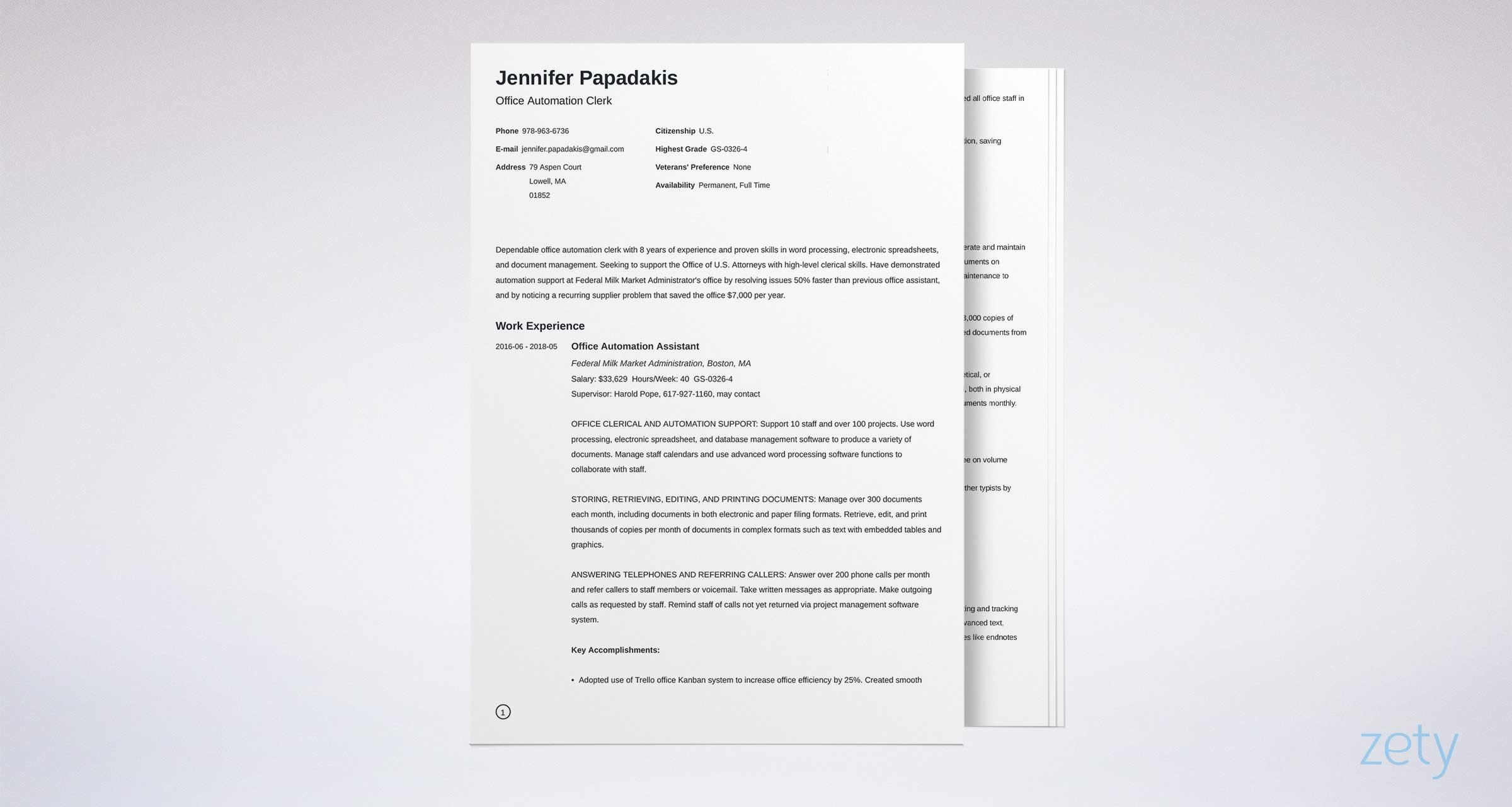 federal resume template format examples sample example with accomplishments section Resume Sample Federal Resume Format