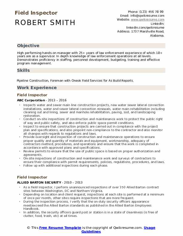 field inspector resume samples qwikresume objective examples pdf program assistant Resume Inspector Resume Objective Examples