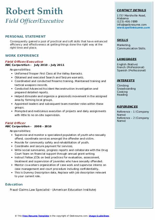 field officer resume samples qwikresume security pdf truck driver skills paper size best Resume Security Field Officer Resume