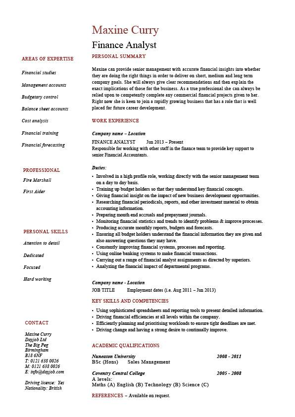 finance analyst resume analysis sample example modelling business career history jobs Resume Financial Planning And Analysis Resume Summary