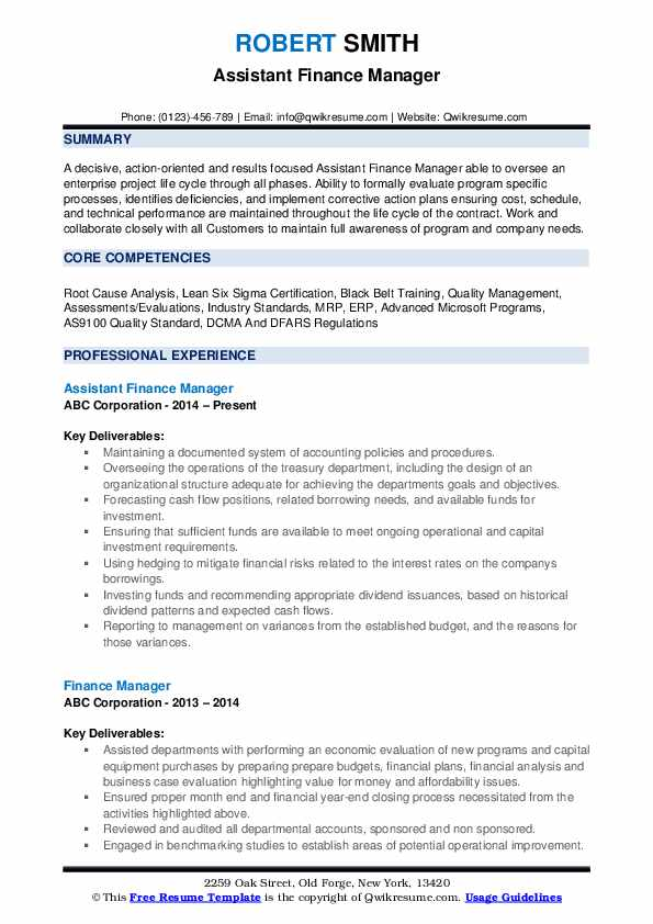 finance manager resume samples qwikresume financial management objective pdf action verbs Resume Financial Management Resume Objective