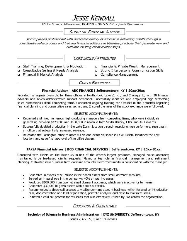 financial advisor resume free templates job description for of chemistry professor food Resume Financial Advisor Job Description For Resume