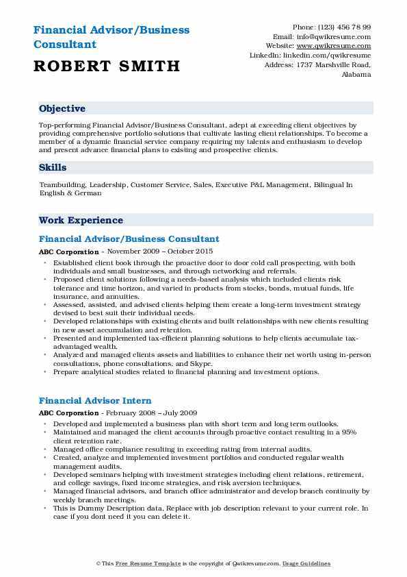 financial advisor resume samples qwikresume job description for pdf human factors best Resume Financial Advisor Job Description For Resume