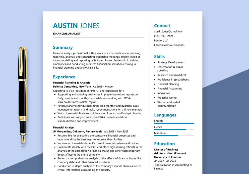 financial analyst resume sample maxresumes analysis skills editable template self starter Resume Financial Analysis Skills Resume
