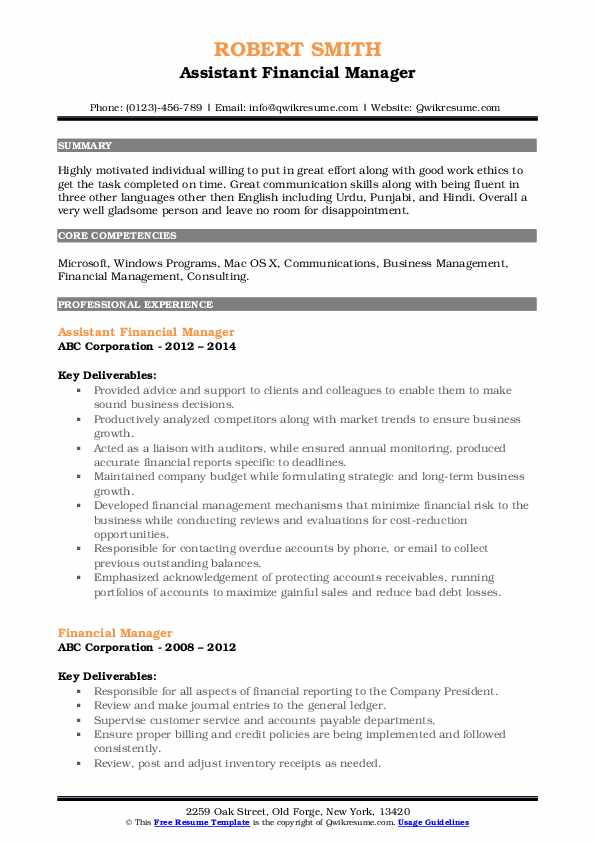 financial manager resume samples qwikresume management objective pdf effective words for Resume Financial Management Resume Objective