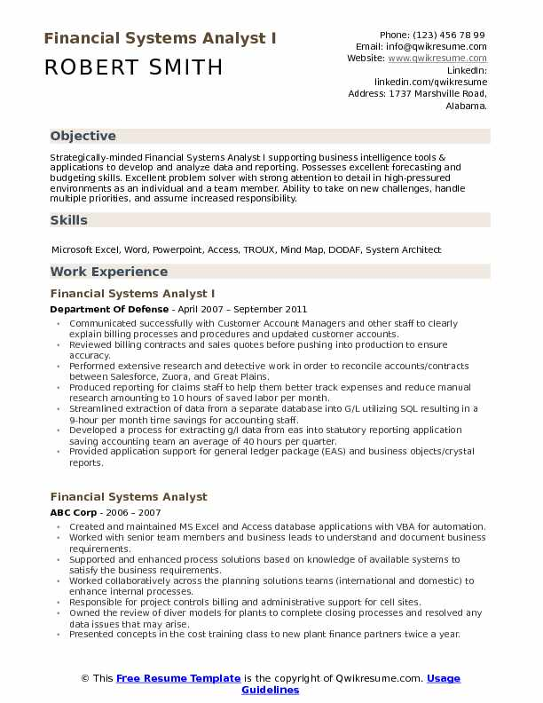 financial systems analyst resume samples qwikresume system example pdf float pool rn Resume System Analyst Resume Example